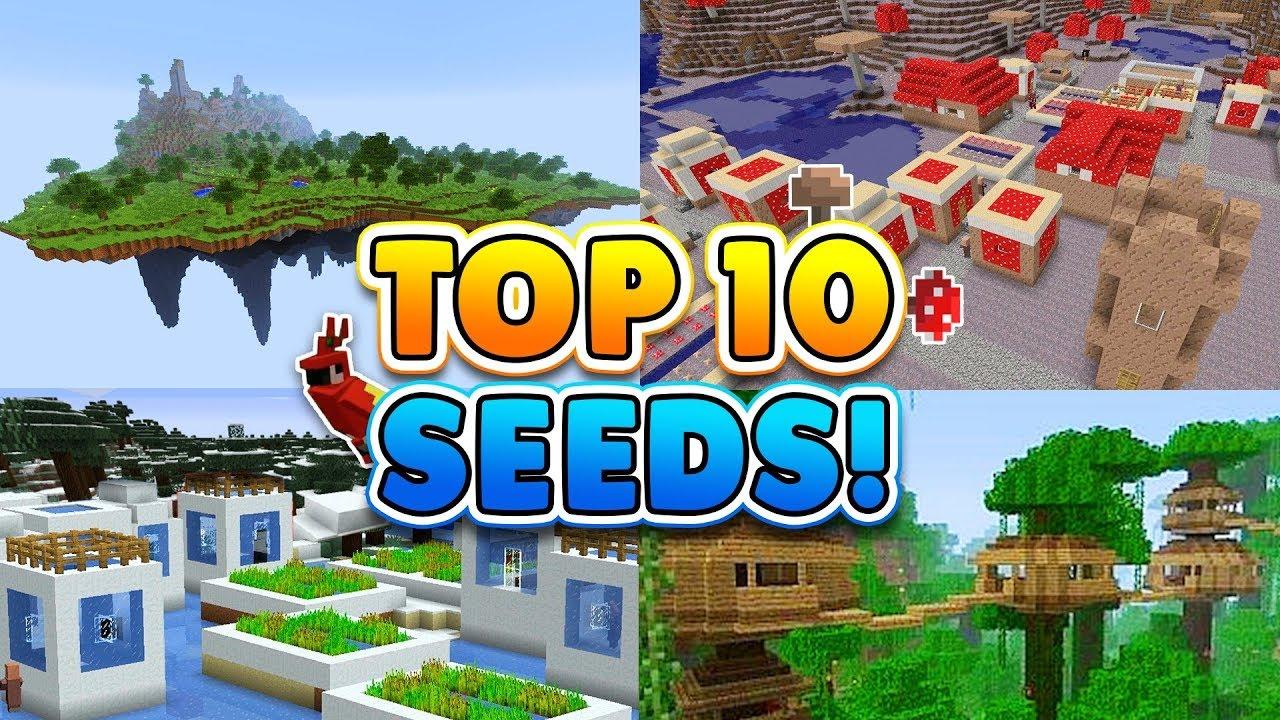 TOP 9 BEST SEEDS for Minecraft! (Pocket Edition, Xbox, Windows 9)