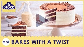 Irish Cream Chocolate Cake Recipe Demonstration - Bake With Stork