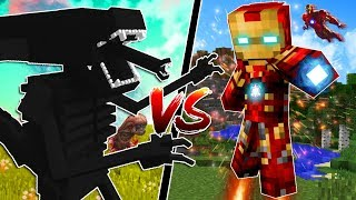 MINECRAFT SUPERHEROES vs HUGE MINECRAFT ALIENS!