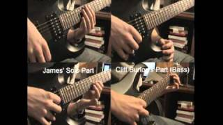 Metallica - Master of Puppets 1st solo (Interlude) all guitar cover