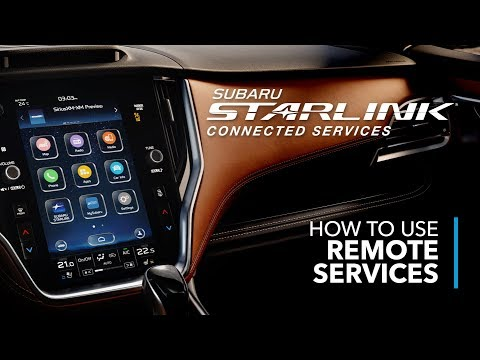 SUBARU STARLINK Connected Services – How To Use Remote Services