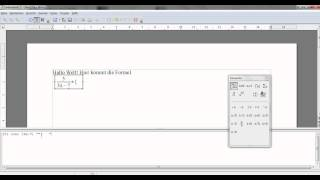 OpenOffice: Einführung in den Formeleditor