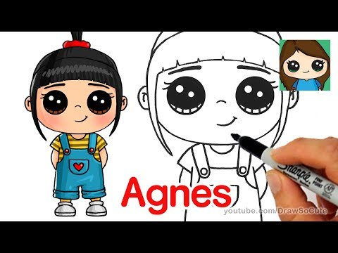 How to Draw Agnes easy  Despicable Me