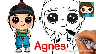 How to Draw Agnes easy | Despicable Me