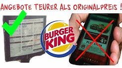 BurgerKing - !! GUTSCHEINE teurer als NORMALPREIS !!