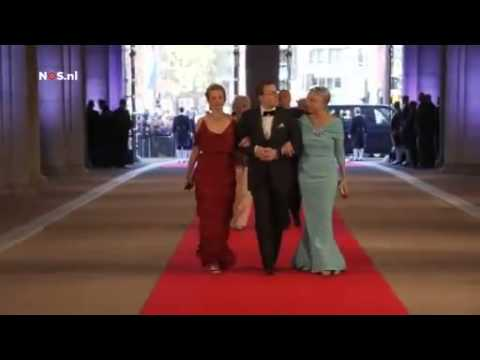 Download Royal Guests Arriving At Dutch Royal Pre Inauguration Dinner Small Clip