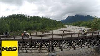 Road of Bones Motorcycle Adventure - rare aerial footage