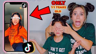 5 YEAR OLD REACTS TO SISTER'S TIK TOKS!! **EXPOSED** | Familia Diamond
