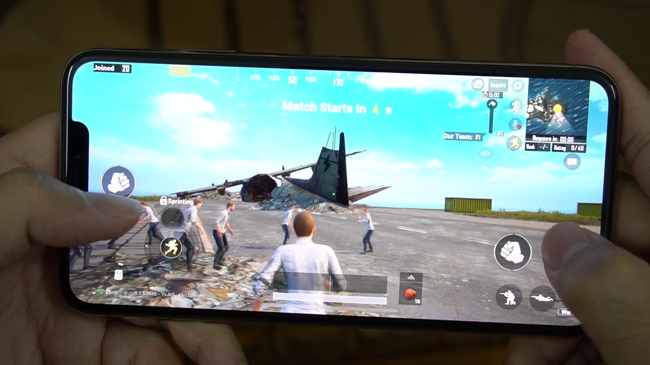 Test Game PUBG Mobile Max Settings on iPhone XS MAX