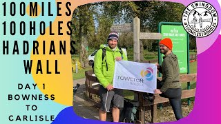 100 Miles 100 Holes Hadrian's Wall | Day 1 | Bowness to Carlisle | Stoney Holme Golf Course