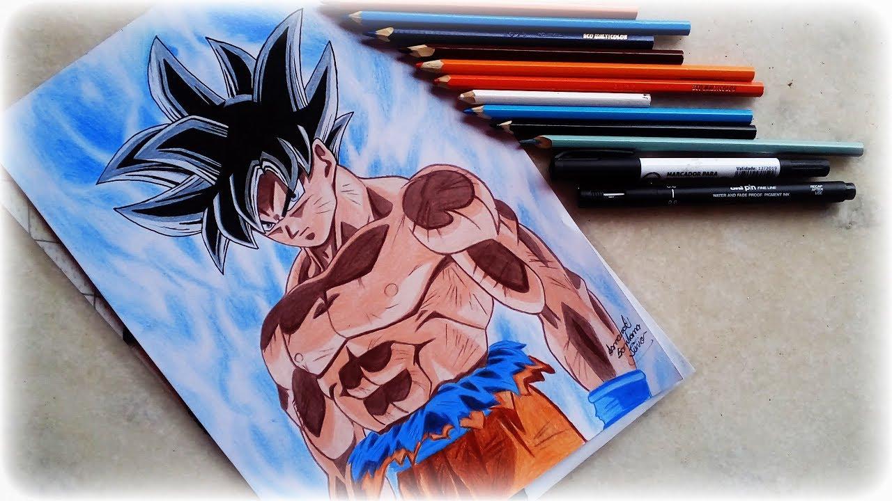 Desenho Goku Instinto Superior Drawing Goku Instinto Superior