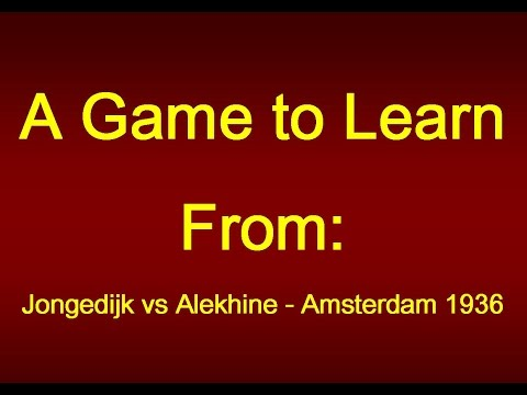 Jongedijk vs Alekhine - Amsterdam 1936