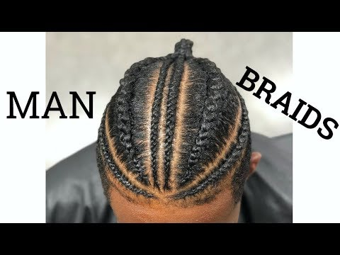How To: Man Braids || Braids For Men || Braided Man Bun