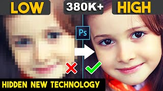 How to depixelate images and Low to High Quality/Resolution Photo/Images in adobe Photoshop