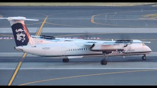 Alaska Airlines (Horizon Air) Bombardier DHC 8 Q400 [N430QX] takeoff from PDX