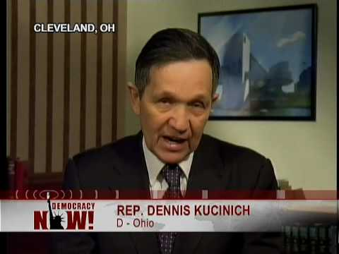Dennis Kucinich votes against Israeli Offensive 1/12/09 from Democracy Now 2 of 2