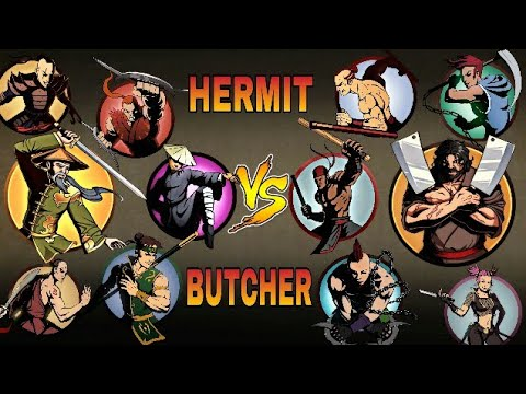 Shadow Fight 2 New Hermit And Bodyguards VS New Butcher And Bodyguards