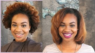 Kinky to Straight |  Straightening My Colored Natural Hair at Madu Salon