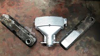 Vapour blasting rover v8 engine components