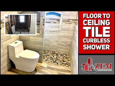 Bathroom Remodel, Bathtub to Curbless Walk In Shower - Time Lapse