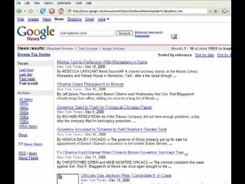 Google News site search