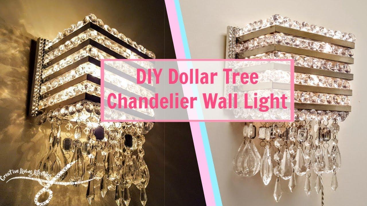 Diy Dollar Tree Chandelier Wall Light