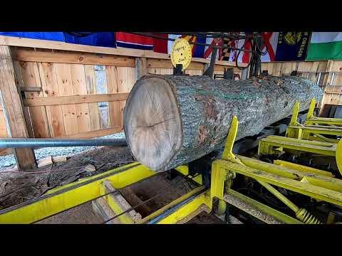 sawing a big