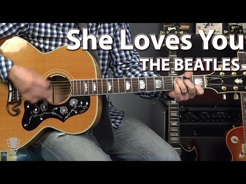 She Loves You by The Beatles - Guitar Tutorial