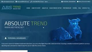 LIVE DEPOSIT ABS TREND 2020  | HYIP PAYING  | Hyip Site - Long Term Investment Site |