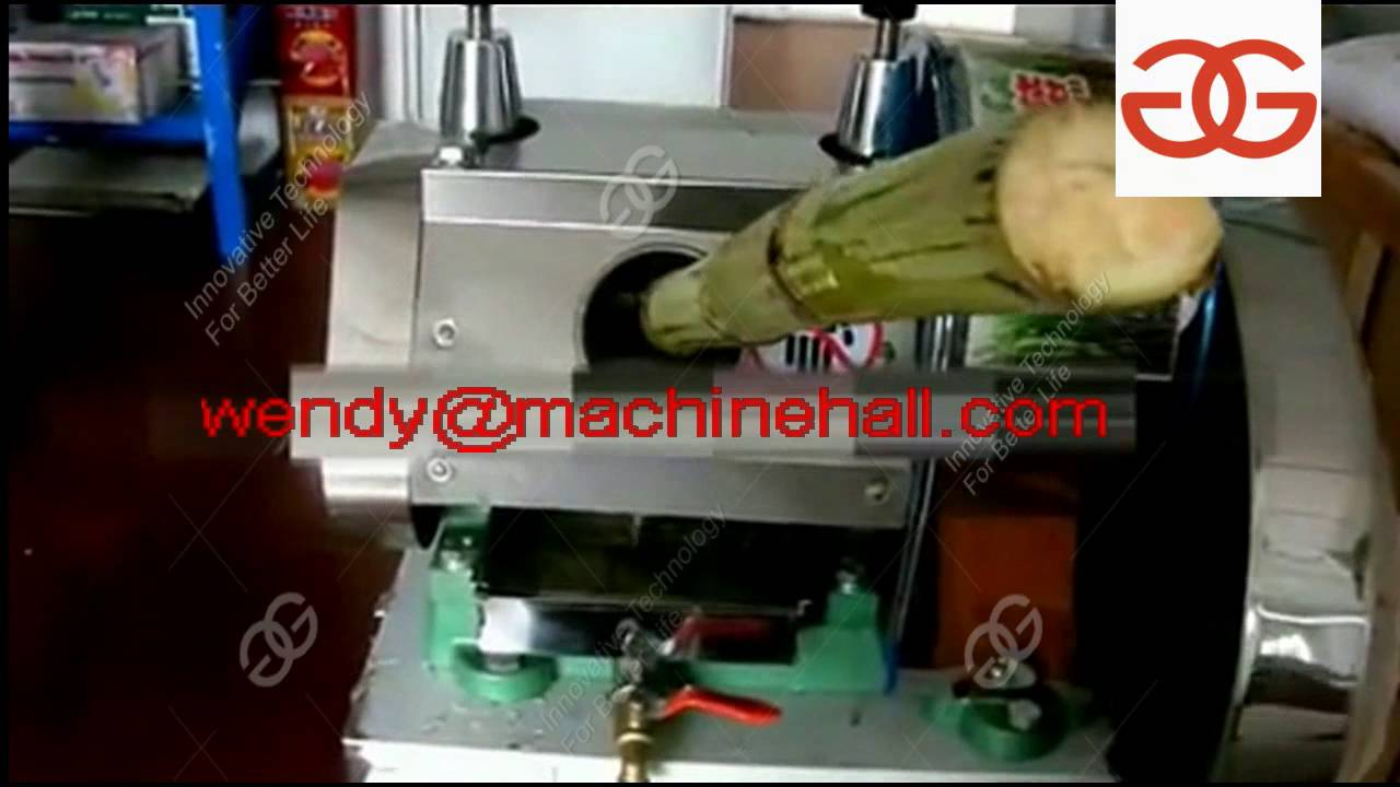 Sugarcane Juice Extractor Machine Price Manufacture Youtube