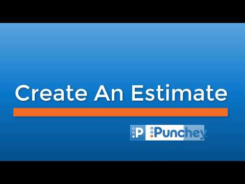 How to Create an Estimate | Payment Settings - Punchey Inc
