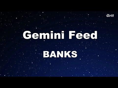 Gemini Feed - BANKS Karaoke 【No Guide Melody】 Instrumental