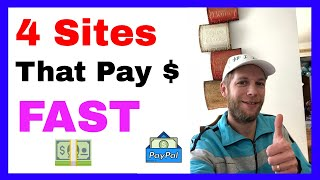 Top 4 Sites That Pay Fast In 2019 – Get PayPal Money Fast