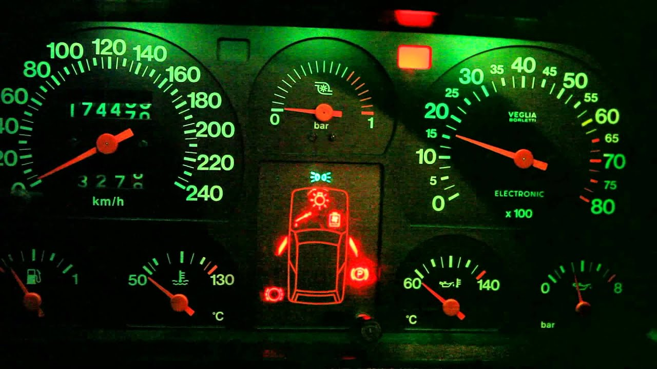 Fiat Uno Turbo Mk1 86 Check Panel And Stopwatch Hd Youtube