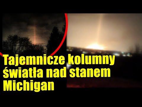 Niesamowita kolumna światła widziana tuż po upadku meteorytu!