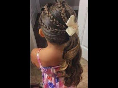 تسريحة شعر للاطفال سهله اجمل واسهل تسريحات الشعر بنات صغار Youtube