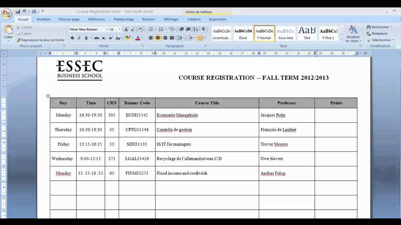How to prepare your timetable part 2 youtube for Rtu 4th sem time table