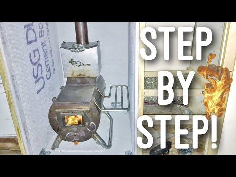 DIY Wood Stove Install Tutorial! (Scamp Travel Trailer) Step by Step!