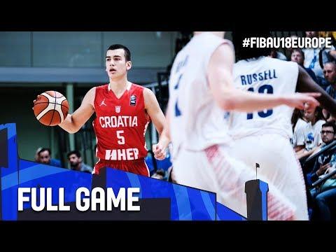 Great Britain v Croatia - Full Game - Final - FIBA U18 European Championship 2017 - DIV B
