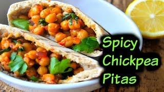 Spicy Chickpea Pita - Vegan Recipe