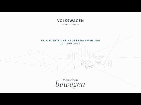 Volkswagen Hauptversammlung 2016 #VWGroupHV, Live-Mitschnitt