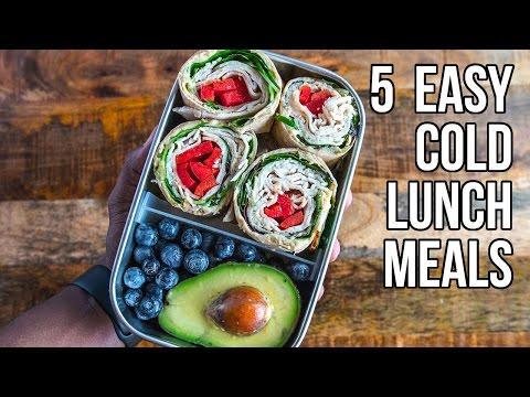 5 Easy Cold Lunches / 5 Comidas que Se Pueden Comer en Frío
