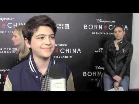 Joshua Rush at the Born in China Premiere