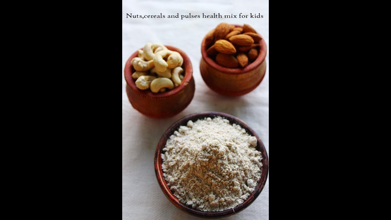 Health mix powder for kids made with nutscereals and pulses youtube ccuart Gallery