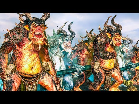 In the Troll Country: Norsca vs Greenskins - Total War WARHAMMER Cinematic Battle Machinima |