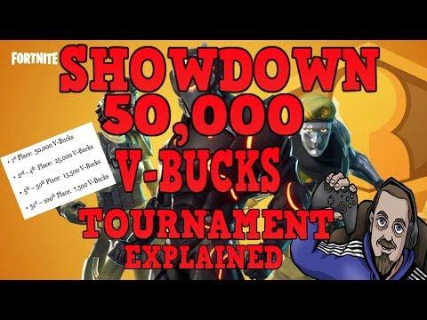 FORTNITE - FREE 50,000 V-Bucks Tournament - NEW Game Mode Solo Showdown Explained