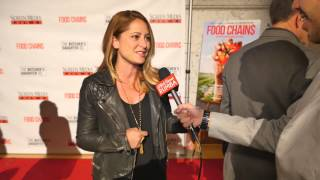 Chef Brooke Williamson at the LA premiere of Food Chains