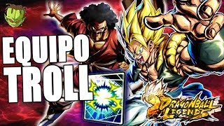 TROLL TEAM CON EL NUEVO GOGETA! | Dragon Ball Legends en Español
