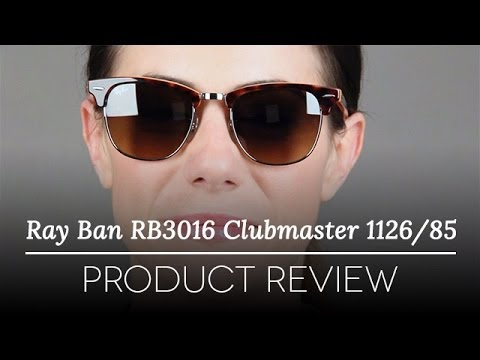 ray ban clubmaster size 49  Ray-Ban RB3016 Clubmaster 1126/85 Sunglasses Review - YouTube