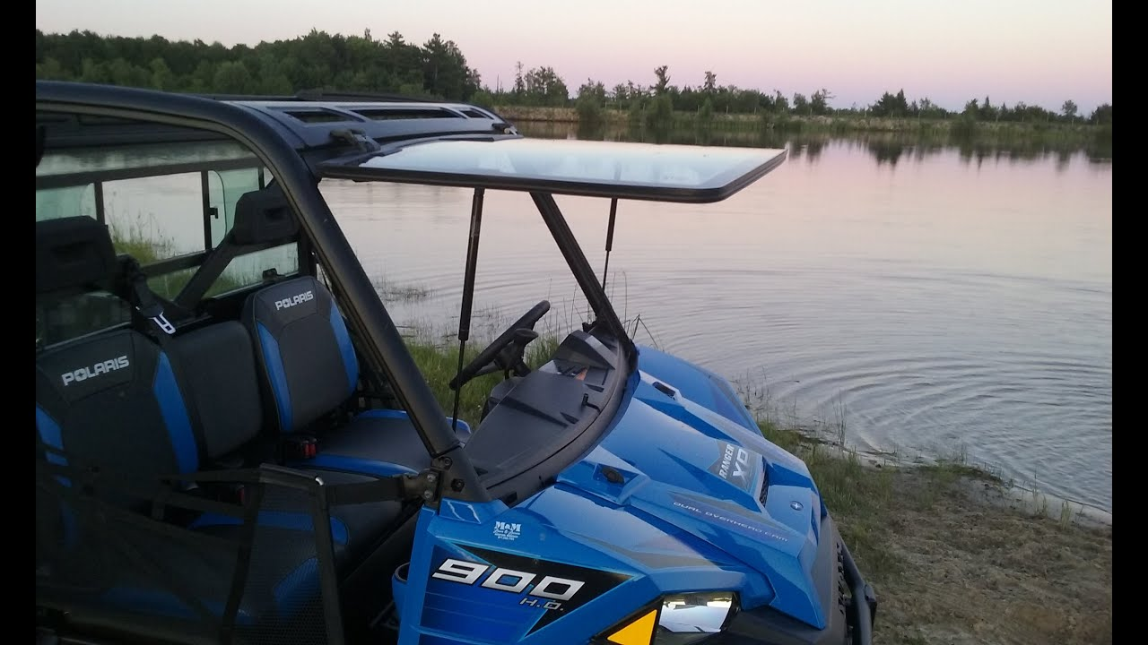 2016 Polaris Ranger 900 XP Tip Out Windshield U0026 Sliding Rear Window